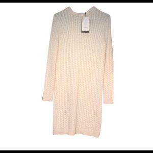New Zara Winter White Knit Dress.